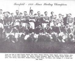 Barefield 1958 Minor Hurling Champions