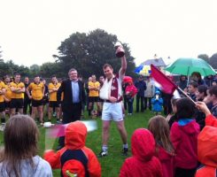 Brian Dilleen Captain Junior C hurling 2014.